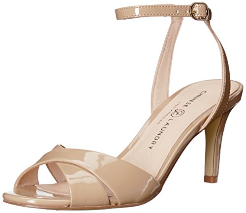 Chinese Laundry Womens Rosita Heeled Sandal Nude Patent CldyLl