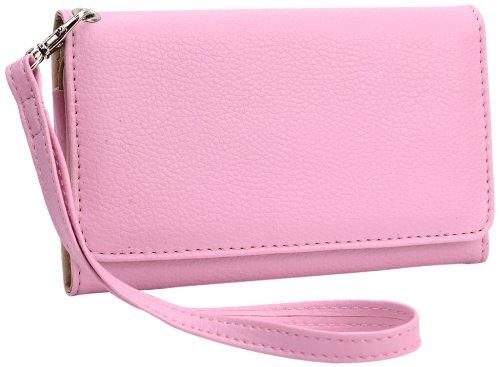 - Kroo Universal Wallet Carrying Case for Smartphones - 1 Pack - Retail Packaging - Magenta
