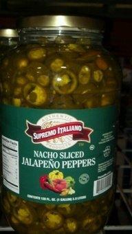 (Supremo Italiano: Sliced Jalapeno Peppers 1 Gallon)