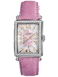 Gevril Women's 7248RV.10A Pink Mother-of-Pearl Genuine Ostrich Strap Watch