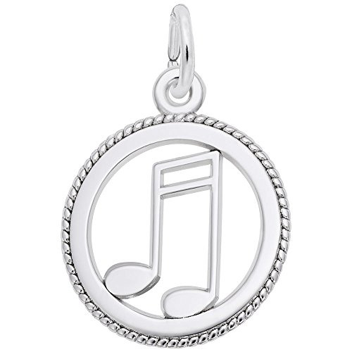 Rembrandt Charms, Music, 14k White Gold