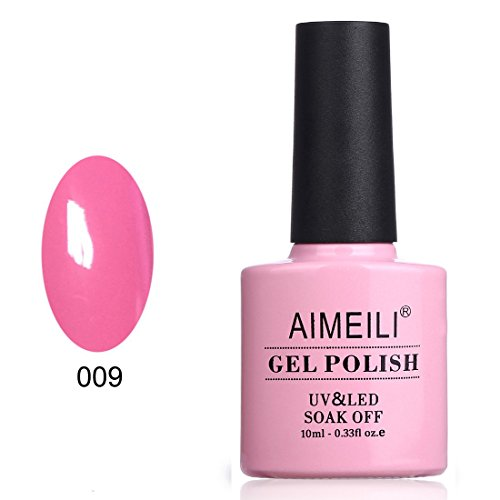 AIMEILI Soak Off UV LED Gel Nail Polish - Pertty Pretty in Pink (009) 10ml