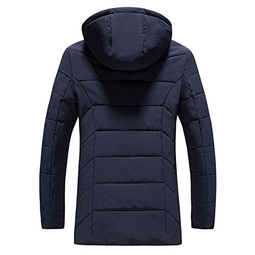 versátil Los de chaqueta hombre la y de de de de la hombres algodón incluso ropa de largo serie moda L tendencias tapa azul abrigo invierno algodón cálido oscuro UHfUR