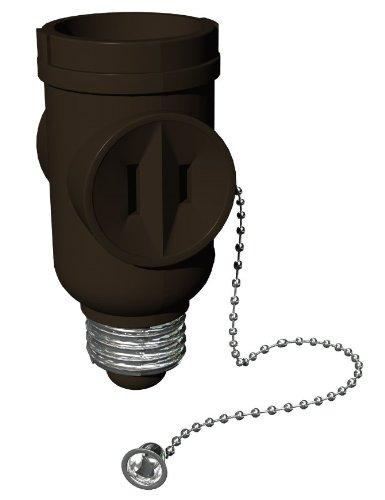 Stanley 30500 Pull Chain Socket 2-outlet Light Bulb Socket Adapter, ()