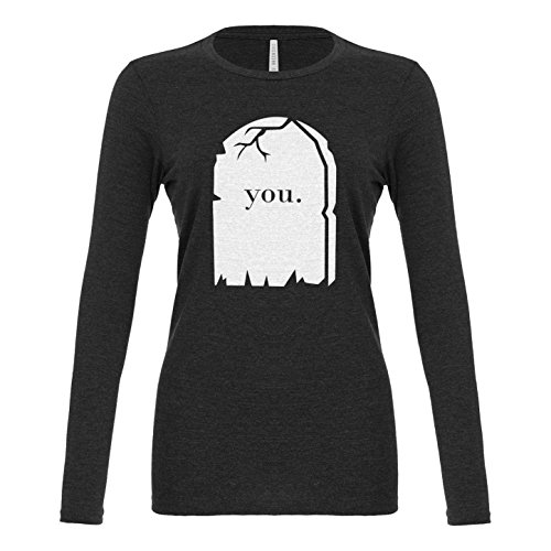 Womens You're Dead to Me Long Sleeve T-Shirt Charcoal Grey Medium (Starbucks Coffee Costume)