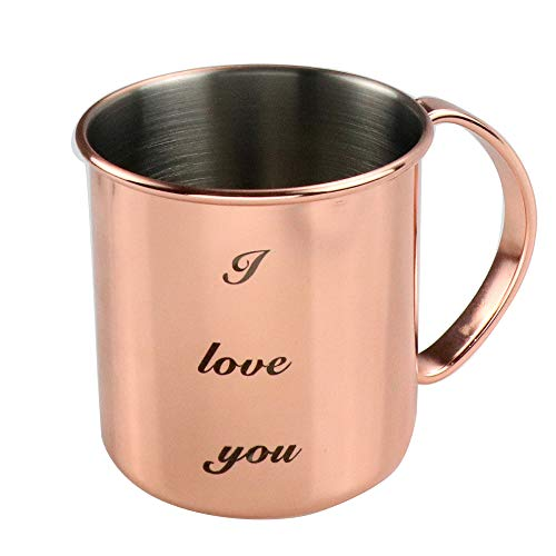Personalized Moscow Mule Copper Mugs Custom Engraved Name Custom Text tin-Lined Solid Cup Cocktail Glass Mother's Day Gift -