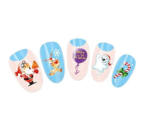 NiceDeco - Nail Stickers Nail Tattoo Nail Deacl Water Decals Transfers Stickers Merry Christmas/Christmas Santa/Rudolph/Polarbear For Nail Art/Cell Phone Case
