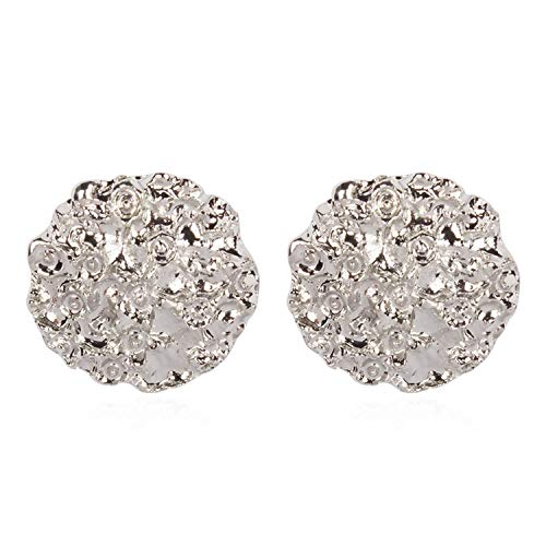 Big Square Round Drop Earrings Gold Color Fashion Geometric Metal Earrings for Women Jewelry Christmas Gifts E49511,rhodium 2