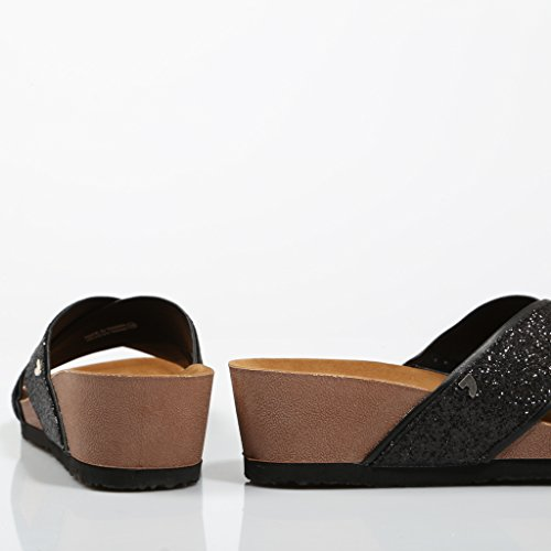 Pala Sandalia Negro Mujer Piedras Gioseppo wgBX1FqX