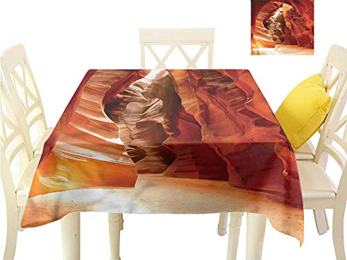 Iridescent cloud Washable Table Cloth Grand Canyon in Colorado Indoor Outdoor Camping Picnic W63 x L63 ()
