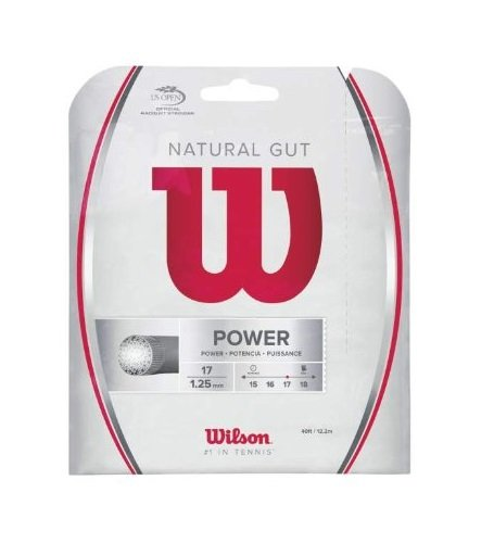 Wilson Sporting Goods Gut Power String Set, Natural, 17-Gauge/40-Feet (Gut Wilson Natural)