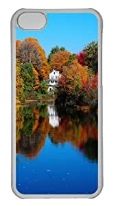 iPhone 5C Case and Cover -Autumn Lake PC case Cover for iPhone 5C Transparent