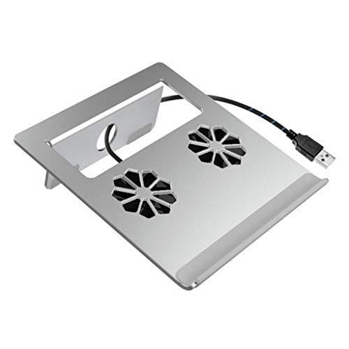 xiaoyuhy Laptop Stand - Dual Fan Ventilation Cooling (Folding) (Design : ()