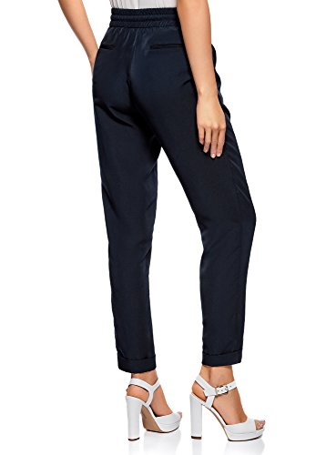 In Donna 7900n Collection Tessuto Leggeri Fluido Blu Pantaloni Oodji wf6PaZnqZ