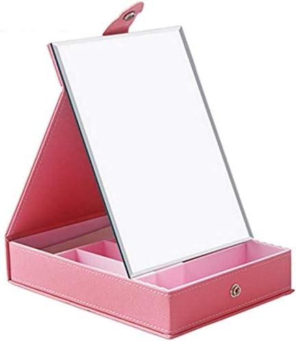 TZSMSSH Joyero Plegable Maquillaje joyería de Almacenamiento Caja ...