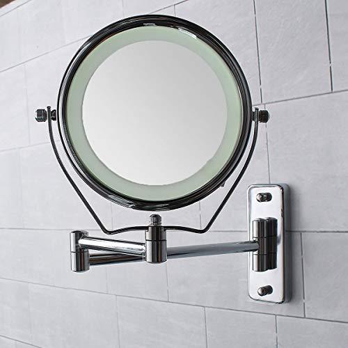 Allegro Huyer Wall Mount Makeup Mirror Wall Mounted Makeup Mirror Professional Vanity Mirror Adjustable Countertop 180 Rotating Free Magnifier ()