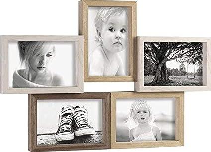 Mascagni Cornice Portafoto Multiplo In Legno 5 Foto 10x15 Da Muro 46x31 5 Cm Amazon It Cancelleria E Prodotti Per Ufficio