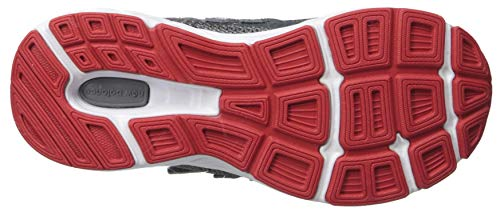 New Balance Boys' 680v5 Hook and Loop Running Shoe Lead/red 2 M US Infant by New Balance (Image #3)