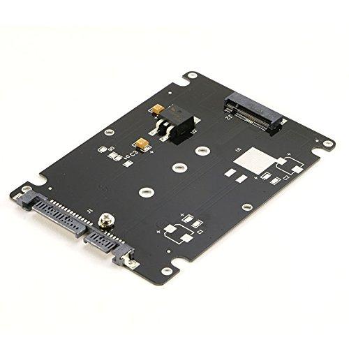"RIITOP M.2 NGFF SATA SSD to 2.5/"" SATA 3 22-Pin Converter Adapter Card with Case"