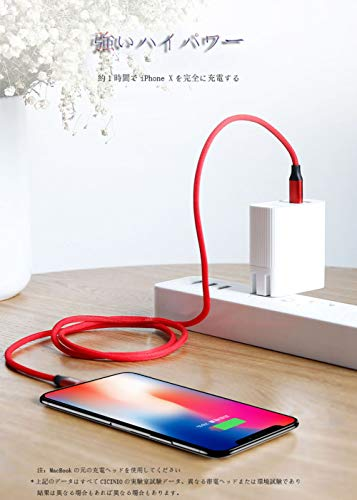Short Phone Cable/Phone Charger Cable (3 Pack 0.8ft), CICINIO Fast Charging USB Cord Compatible with Phone X XS Max XR / 8/8 Plus / 7/7 Plus / 6/6 Plus / 5S/SE/Pad/Pod and More Red