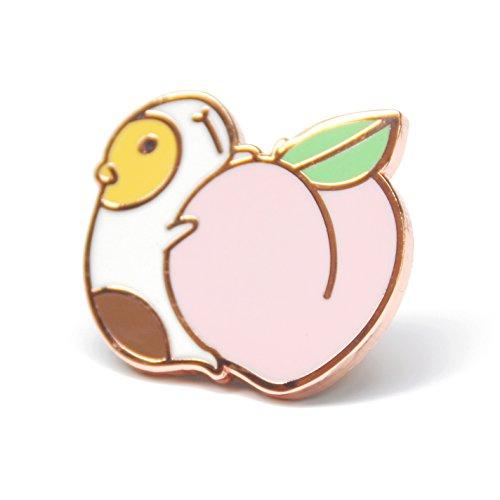 Noristudio Guinea Pig Enamel Pin for Guinea Pig Lovers (Kawaii Pins)