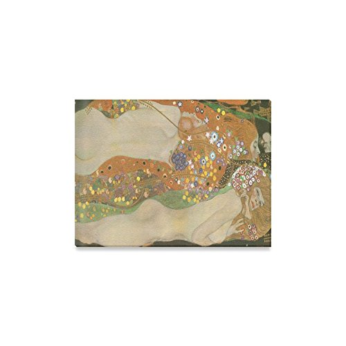 (Gustav Klimt Water Serpents Famous Wall Art Home Decoration Canvas Prints- 16x12 Inch(One Side))