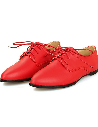 Uk5 Blanc Travail Rouge Chaussures Femme Noir 5 Décontracté confort us7 Rose Eu38 Pointu Pink Talon Extérieure Bureau Bout 5 Cn38 amp; Plat Njx RvXqgX