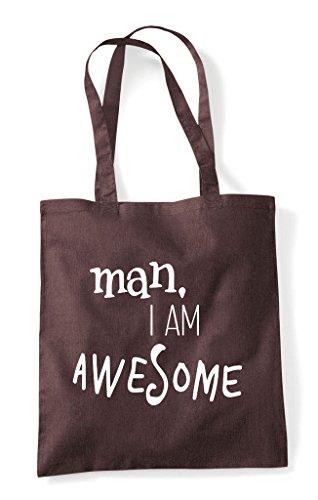 Am Tote Awesome Shopper Man Bag I Brown 7qZvxgOn