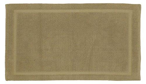 (Grund Certified 100% Organic Cotton Bath Mat, Charleston Series, 21-Inch by 34-Inch, Driftwood)