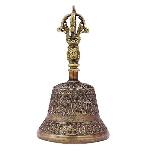 - ibaexports Antique Brass Bell Religious Tibetan Buddhism Handmade Vajra Dorje Prayer Bell