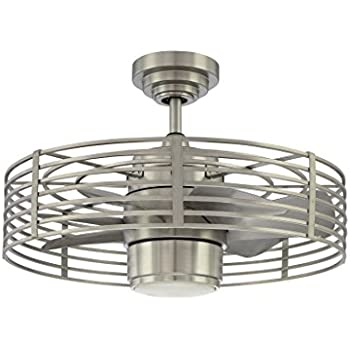 Kendal Lighting Ac17723 Sn Enclave 7 Blade 1 Light Ceiling