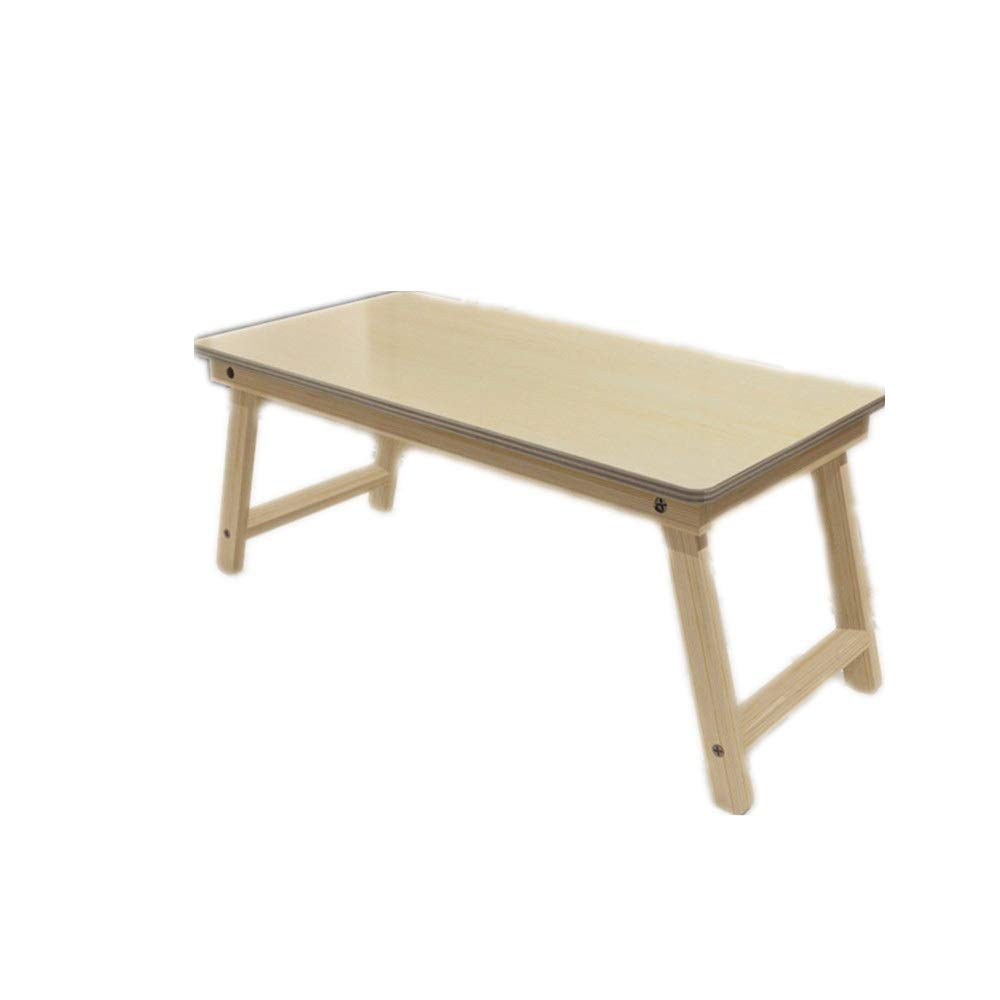 KIMIBen Laptop Table, Portable Bamboo Foldable Laptop Desk NotebookTray Table Bed Table (Color : Natural, Size : 603028cm)