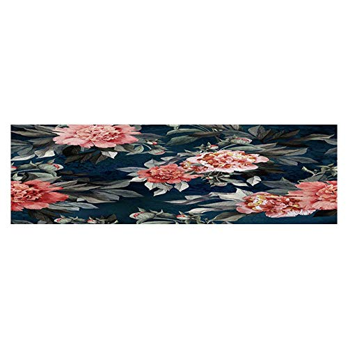 Dragonhome Aquarium Decorative with red and Pink Roses and Peonies on Background Aquarium Background Sticker Wallpaper L23.6 x H19.6 ()