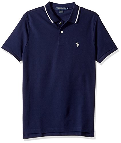 U.S. Polo Assn. Men's Slim Fit Solid Short Sleeve Pique Polo Shirt, 8029-Classic Navy, (Classic Solid Pique Polo)