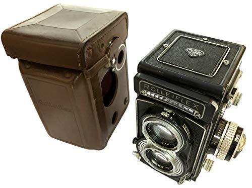 Global Art World Beautiful Vintage Rolleiflex T TLR Light Meter Carl Zeiss Tessar 1:3.5 F=75mm Excellent Lens Antique Rolleiflex Photo Camera AC 050