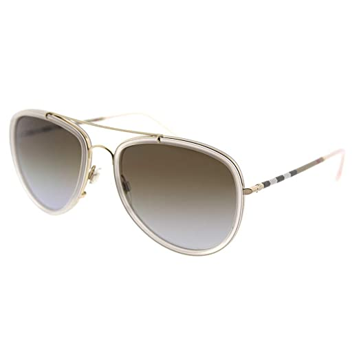 e1234858d2e Amazon.com  Burberry Unisex 0BE3090Q Brushed Gold Dark Havana Light  Brown Mirror Gold One Size  Burberry  Clothing