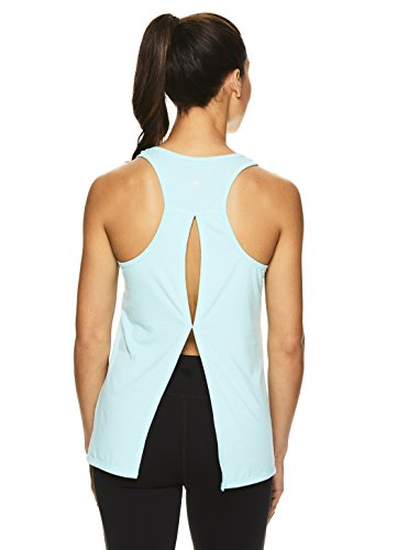 HEAD Women's Racerback Workout Tank Top - Ladies Activewear Shirt w/Open Back Detail - Island Paradise Cassanda, Medium