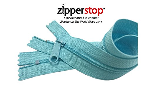 Zipperstop Wholesale YKK® 14 Inch Hottest Colors Spring/ Summer 2015 Colors YKK® #4.5 Handbag Zippers – Extra-long Pull Closed Bottom -5pcs Each Color (905 - Aquamarine)