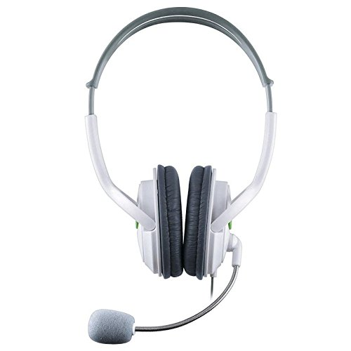 insten headset headphone with mic compatible with xbox 360 wireless controller white in the uae. Black Bedroom Furniture Sets. Home Design Ideas