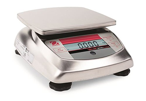 Ohaus Compact Bench Scales - Valor 3000 Xtreme Compact Scales Model V31X6, 6kg x 1g, 13.23 x 0.005lb, 211.65 x 0.05 oz or 1/8 oz default resolution, Not NTEP Certified<BR>Platform Size 5.75 x 6.22 in / 146 x 158 mm ()