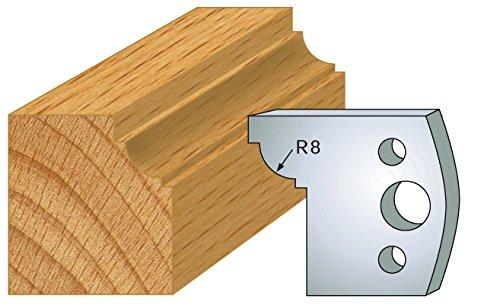 Jeu de 2 fers cong/é avec carr/és ht 40 mm pour porte outils entraxe plot 24 mm 067