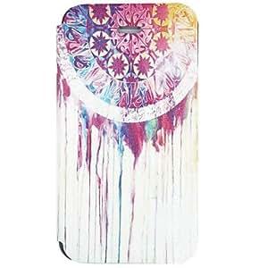 TY- patrón de pintura de salpicaduras de tinta del estilo popular de la PU cuero caso de cuerpo completo para iphone 4 / 4s