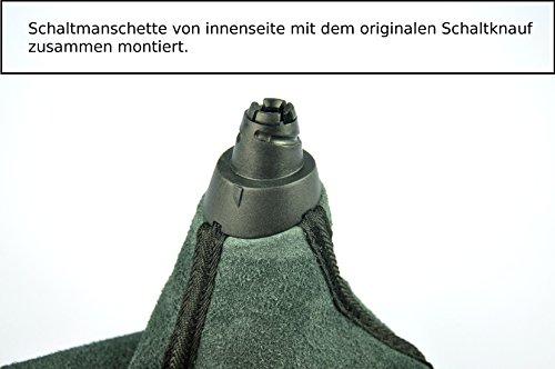 Schaltsack Schaltmanschette echt Leder Anthrazit N252
