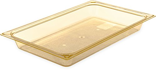 Carlisle 10400B13 StorPlus High Heat Food Pan, 2.5'' Deep, Full Size, Amber by Carlisle