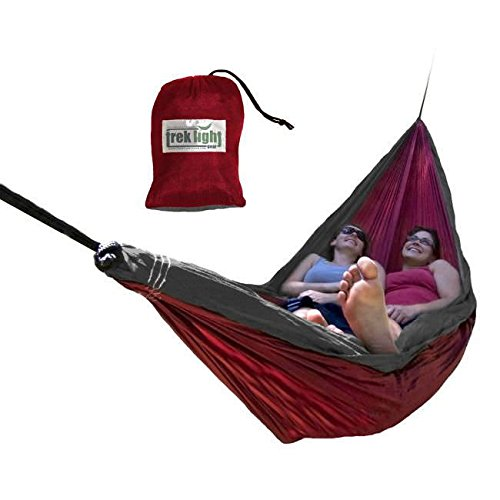 Trek Light Gear Double Hammock – The Original Brand of Best-Selling Lightweight Nylon Hammocks – Use for All Camping, Hiking, and Outdoor Adventures
