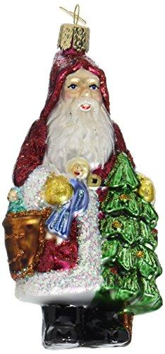 Old World Christmas Woodland Father Glass Blown (Christmas Old World Santa)