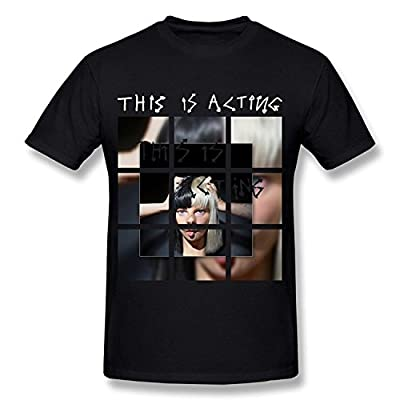 LQYG Men's Tees - Sia-this Is Acting 5 Black