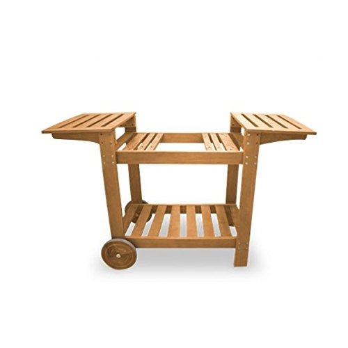 Simogas cbr63Chariot Holz für Plancha 138x 50x 83cm braun