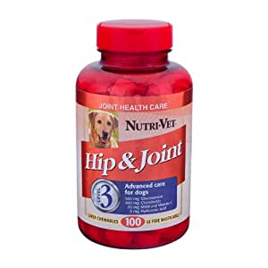 Nutri-Vet Hip and Joint Level 3 Chewable Tablet for Dogs, 100-Count