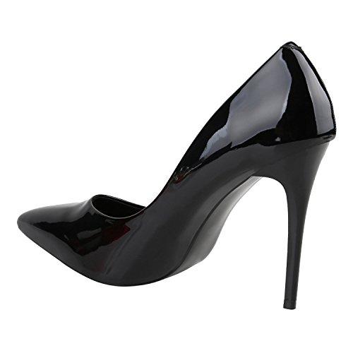 Stiefelparadies femme Noir Laqué Coupe fermées rzPpr0